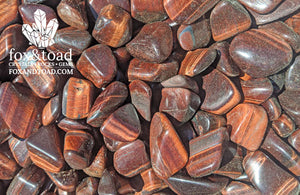 Red Tiger's Eye Tumbled Stones