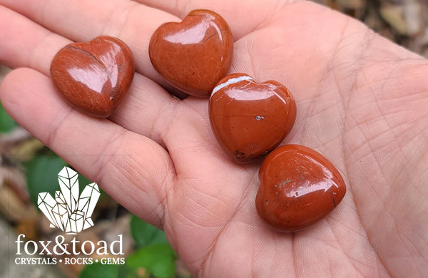 Pocket Heart — Red Jasper