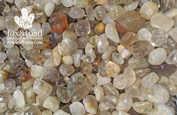 Rutilated Quartz Tumbled Stones