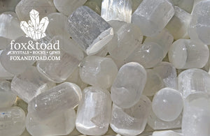 Selenite, White Tumbled Stones