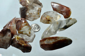 Amphibole Quartz Points Tumbled Stones