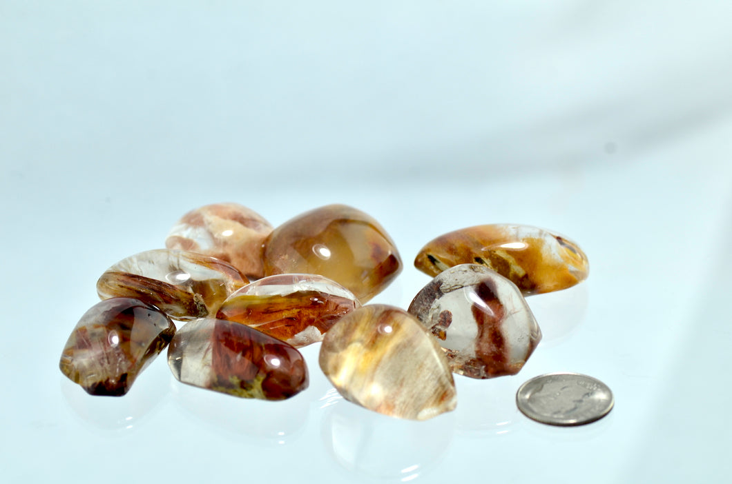 Amphibole Angel Phantom Quartz Tumbled Stones