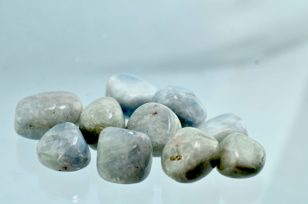 Calcite, Blue Tumbled Stones