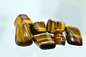 Gold Tiger's Eye Tumbled Stones