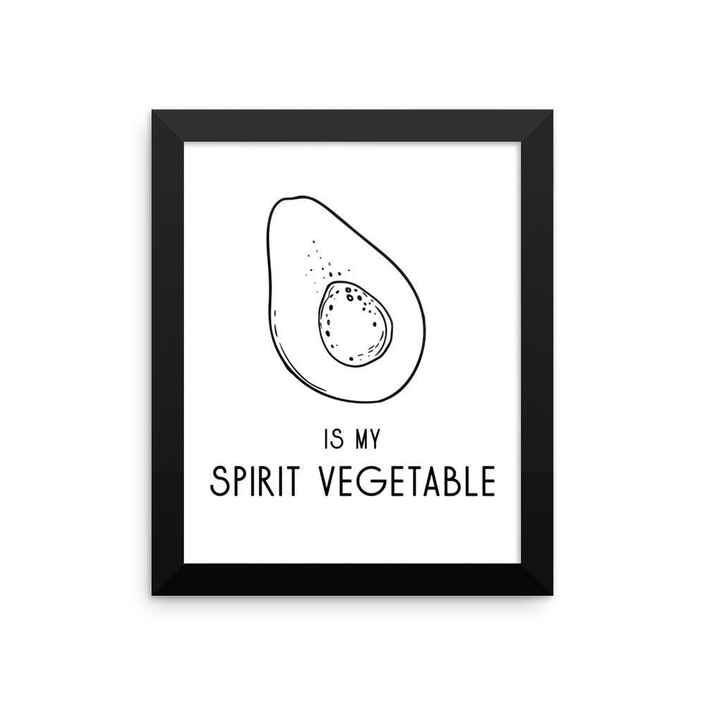 Avocado Framed Poster