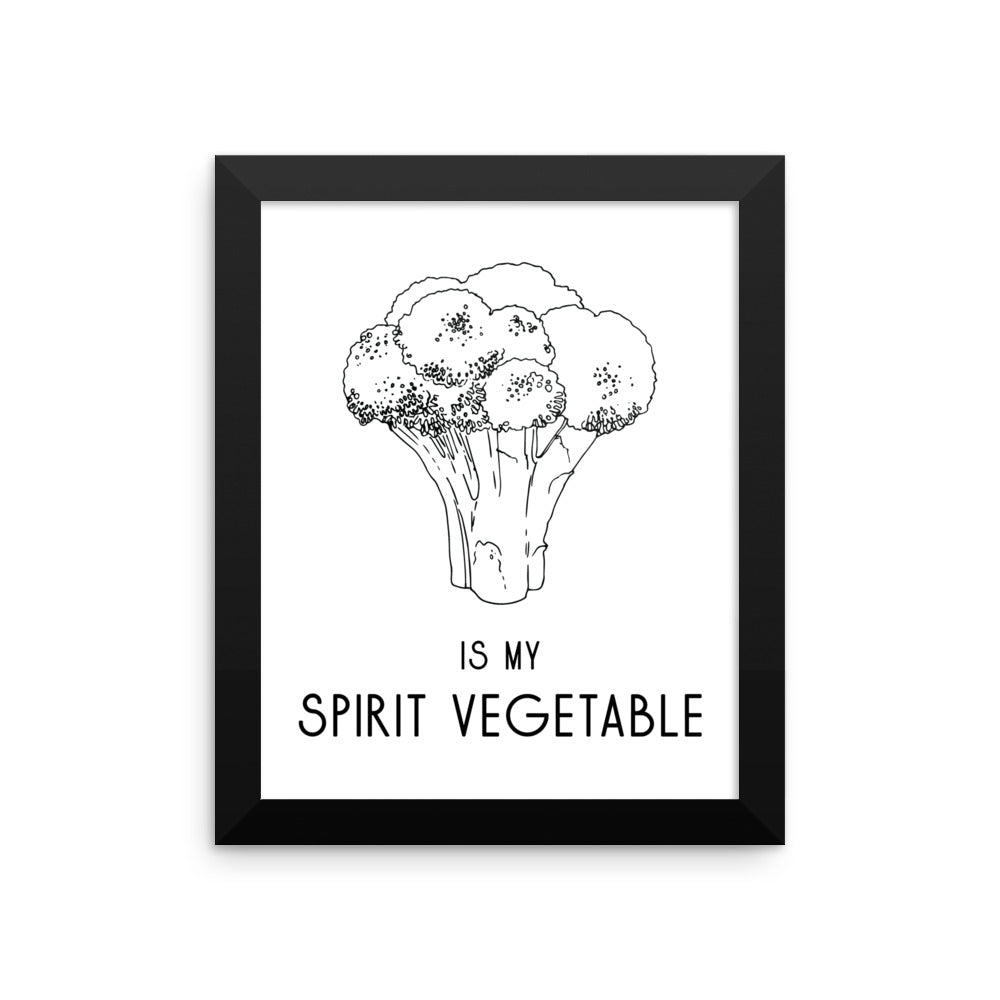 Broccoli Framed Poster