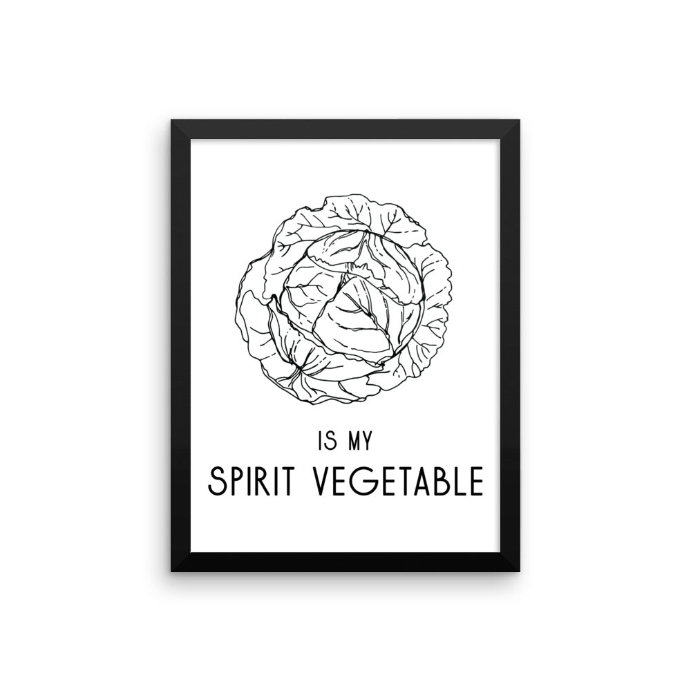 Cabbage Framed Poster