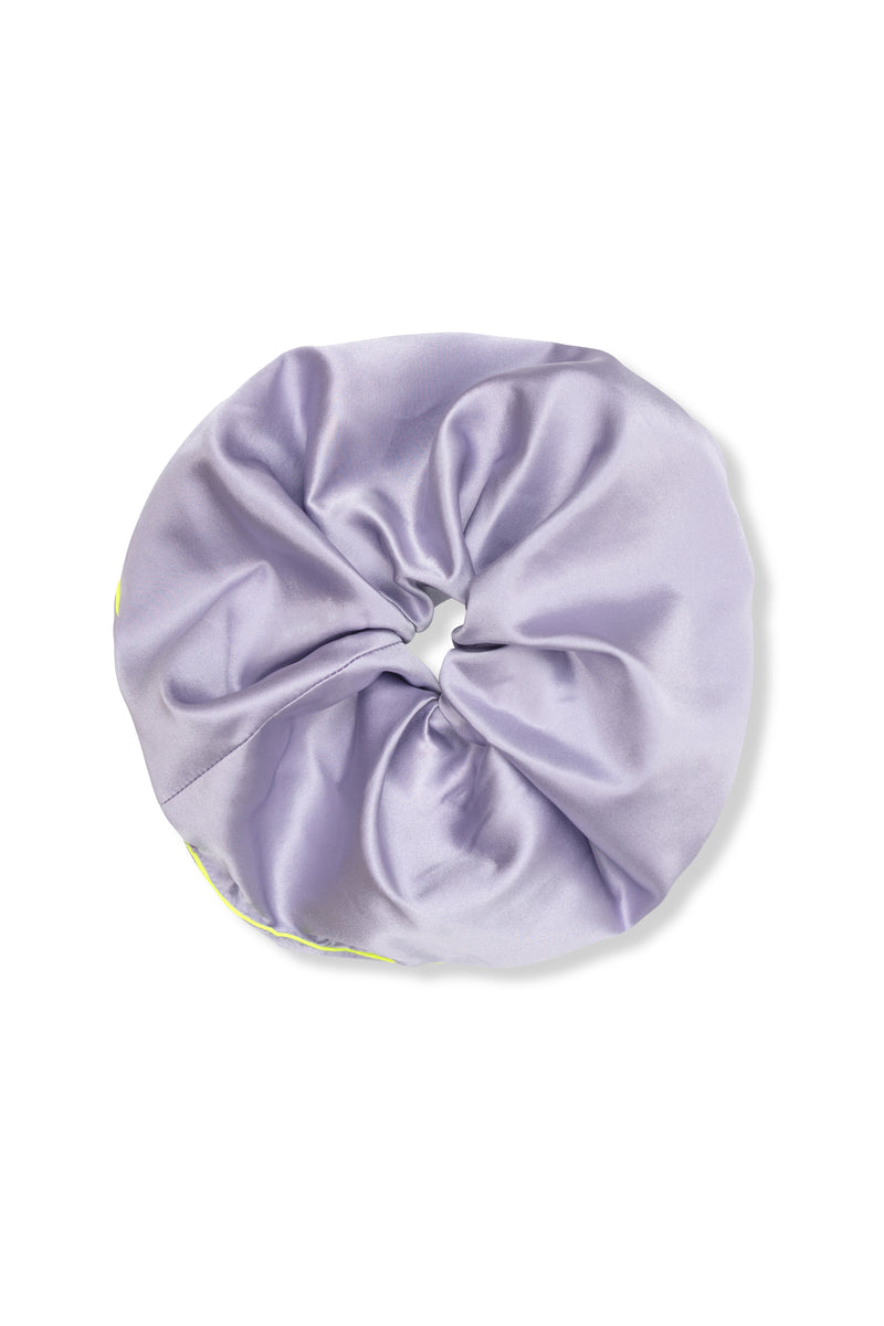 Shayne purple large silk scrunchies.