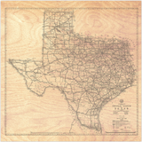 1933 Texas State Highways Wood Prints