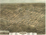 1872 Bird's Eye View of Raleigh, NC