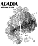 Acadia National Park Topographic Map Poster