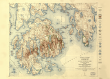 Acadia National Park 1931 Map