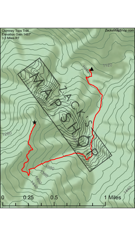Chimney Tops Trial Map