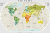 World Political Map Colorful Poster