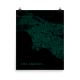 Los Angeles Street Map Poster