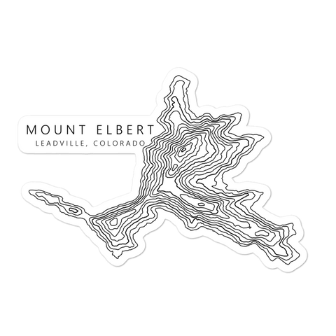 Mount Elbert Topographic Sticker