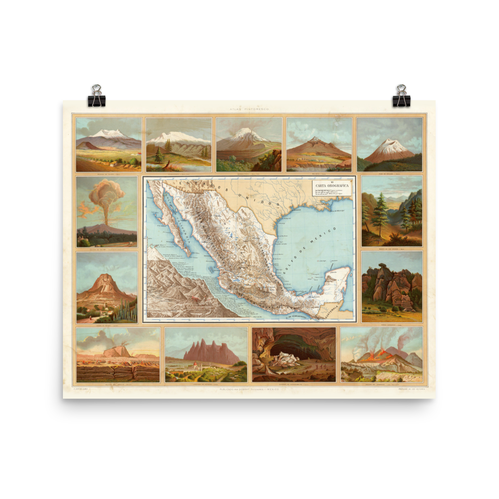1885 Mexico Topographic Map Zack S Map Shop