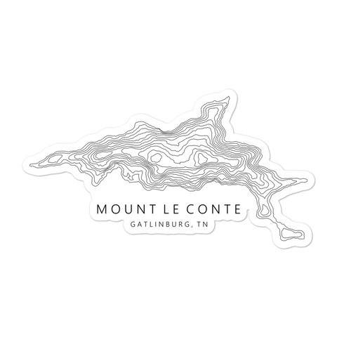 Mt. Le Conte Topographic Sticker