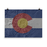 Colorado Hillshade Flag Poster