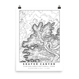 Shafer Canyon Topographic Map Art