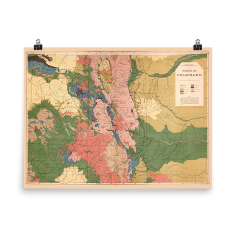 1877 Geologic Map of Colorado