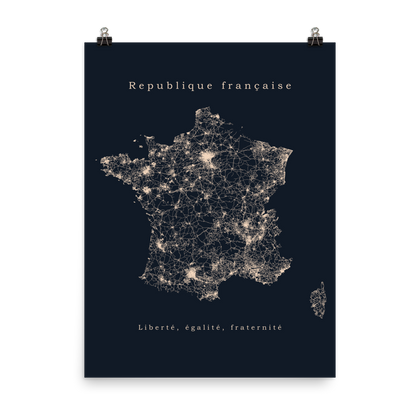 France Street Map Poster