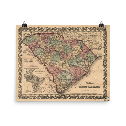 1865 South Carolina Map