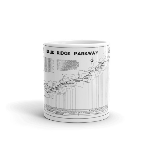 Blue Ridge Parkway Map Mug