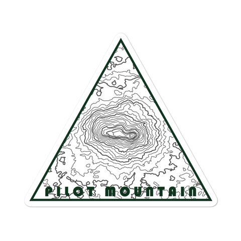 Pilot Mountain Topographic Triangle Sticker