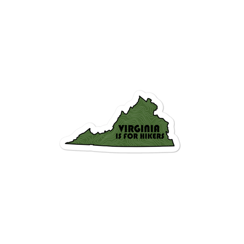 Virginia Is For Hikers Sticker
