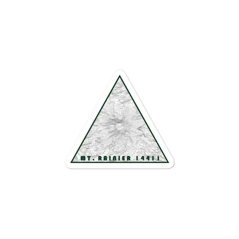 Mount Rainier Topographic Triangle Sticker