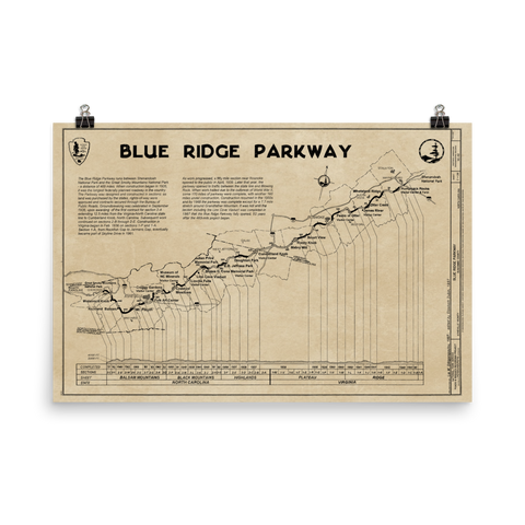 Blue Ridge Parkway 1997 Map