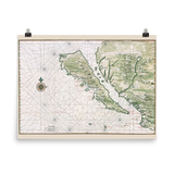 California Island 1650 Map Poster
