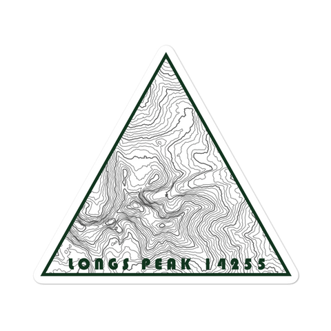 Longs Peak Topographic Triangle Sticker