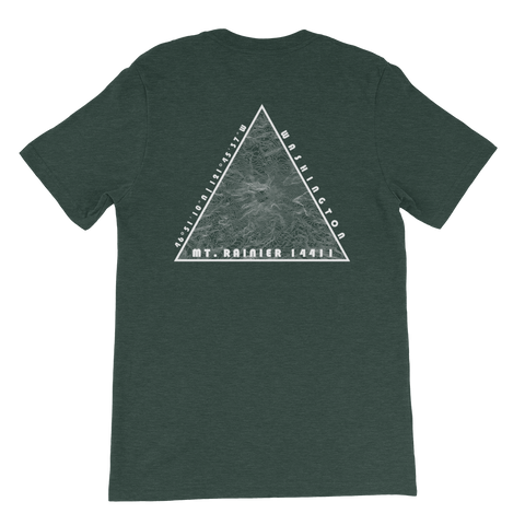 Mount Rainier Topographic Short-Sleeve Unisex T-Shirt