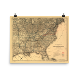 1887 Norfolk & Western Map Poster