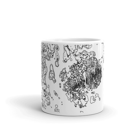 Acadia National Park Topographic Mug