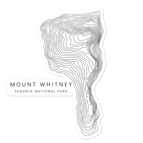 Mount Whitney Topographic Sticker