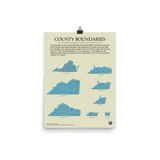 Henry County Boundaires Map Poster
