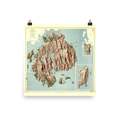 Acadia National Park 1956 Map