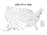 USA Fill In Map Digital Download