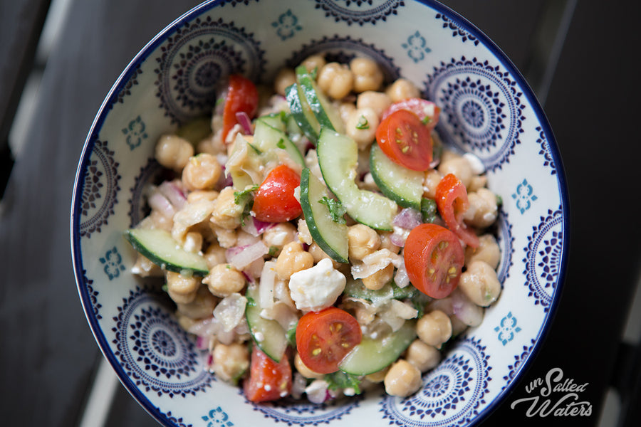 Chick Pea, Feta and  Cucumber Salad