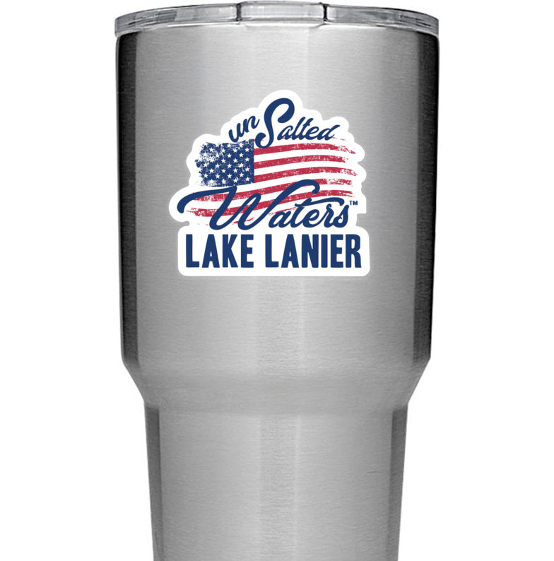 Lake Lanier American Flag Decal Sticker