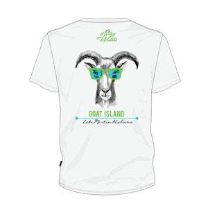 Party Goat Short Sleeve Goat Island Lake Martin T-Shirt