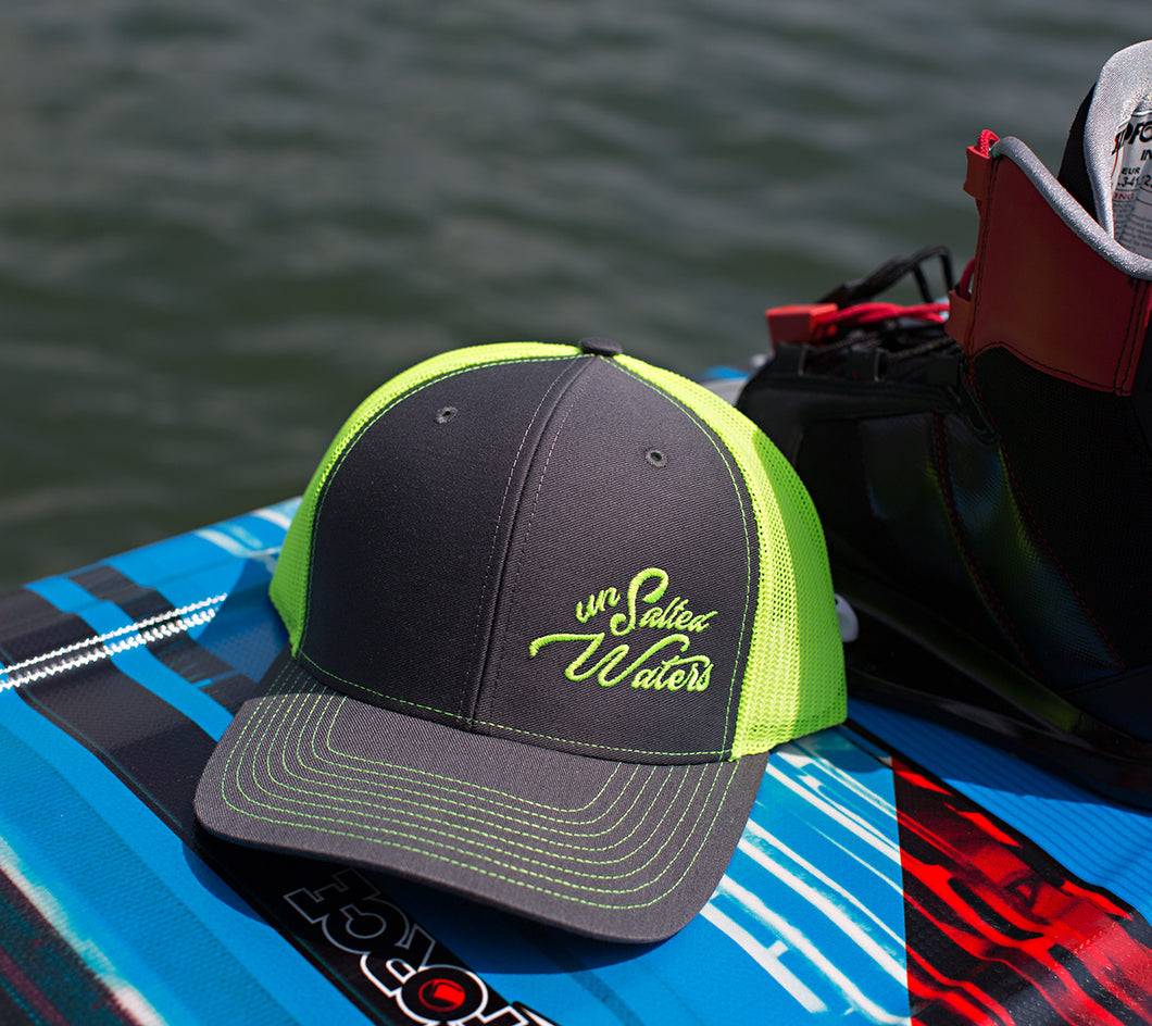 UnSalted Waters Charcoal & Neon Yellow Trucker Hat