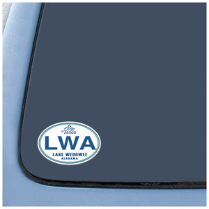 Lake Wedowee Alabama Decal LWA Sticker