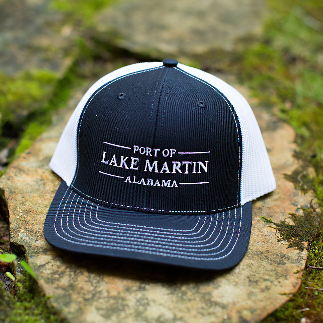 Port Of Lake Martin Trucker Hat Navy
