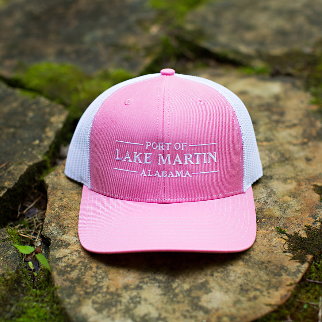 Port Of Lake Martin Trucker Hat Pink