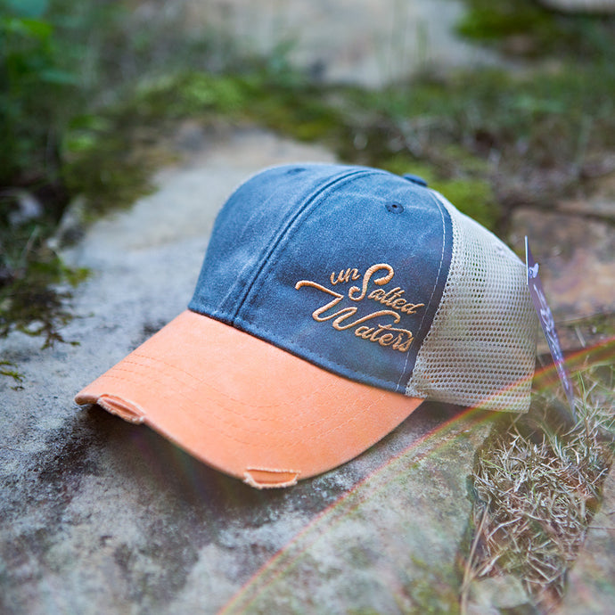 Fall 2018 UnSalted Waters Blue & Orange Trucker Hat