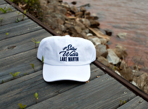 White & Navy Lake Martin Hat